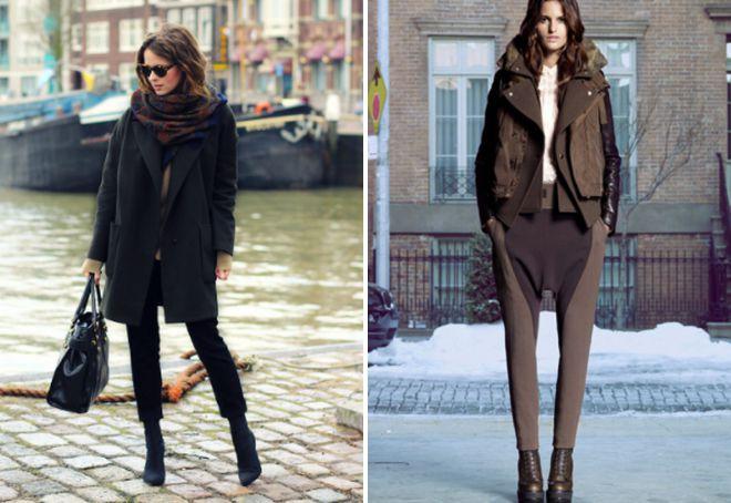 с чем носить короткие брюки зимой