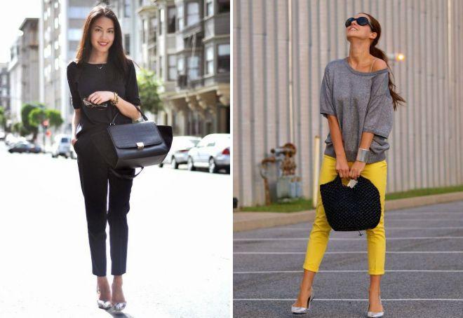 женские короткие классические брюки