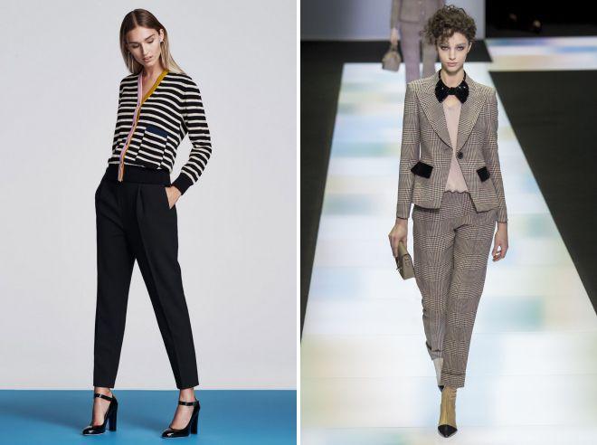 женские строгие брюки осень 2018