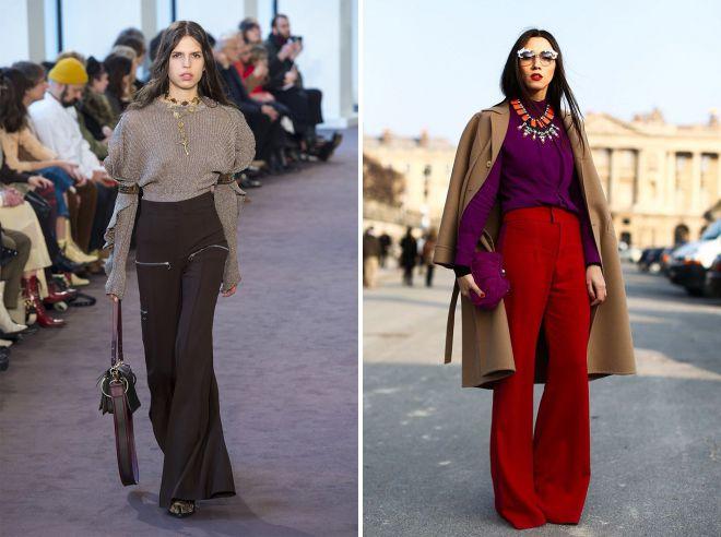 модные женские брюки осень зима 2018