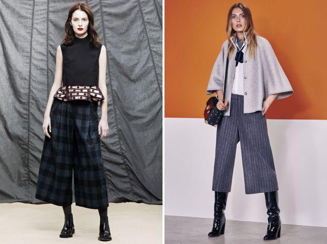 женские брюки кюлоты осень 2018