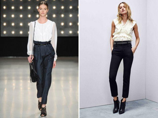 брюки с завышенной талией осень 2018