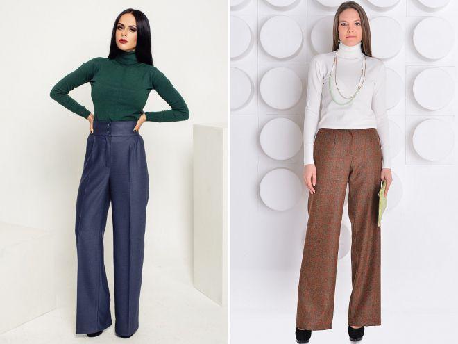 шерстяные брюки осень 2018