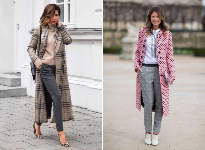 женские осенние образы с брюками 2018