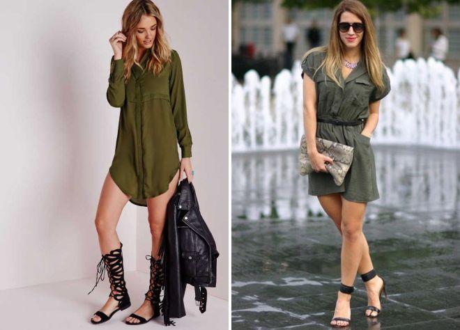 платье милитари для девушек