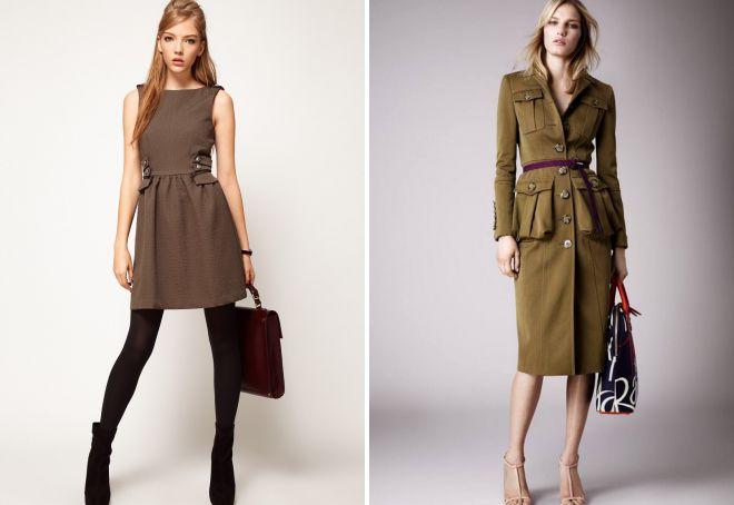 женские платья в стиле милитари