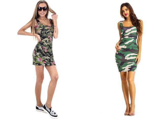 платье майка милитари