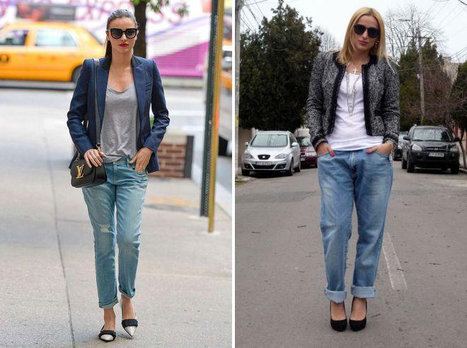 как носить джинсы бойфренды женщинам за 40