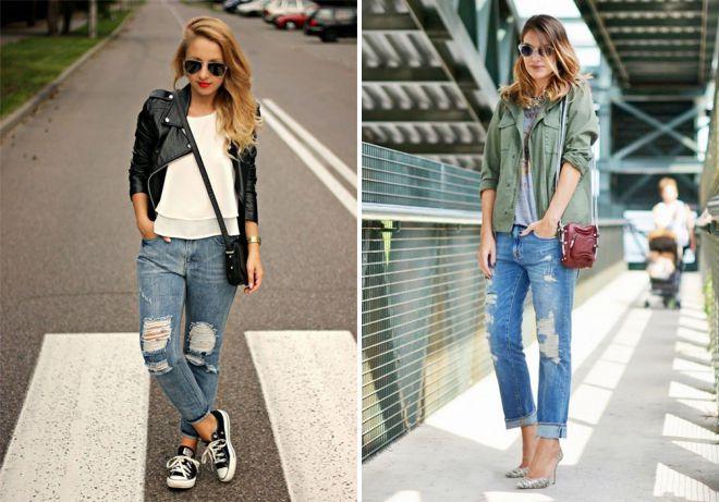 с чем носить джинсы бойфренды весной