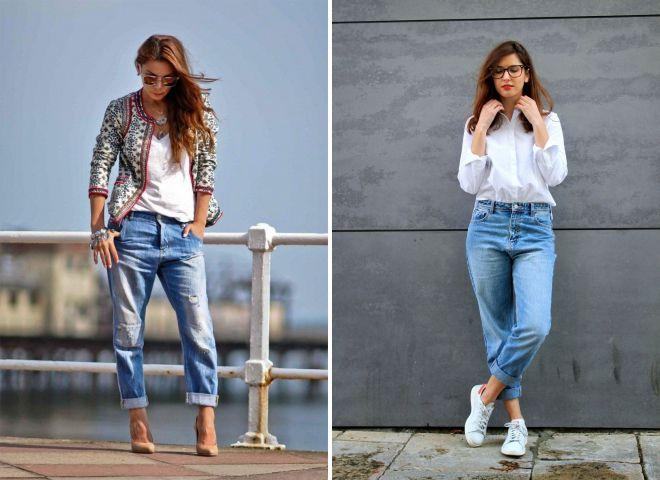как правильно носить джинсы бойфренды