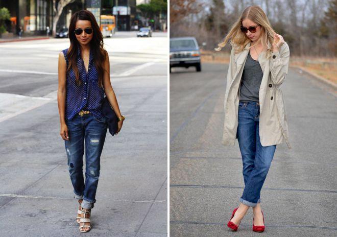 с чем можно носить джинсы бойфренды