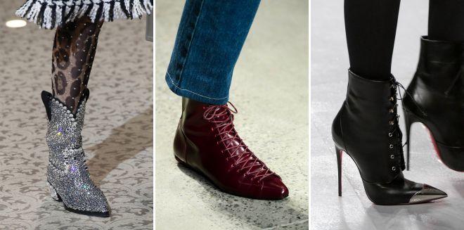 тренды осени 2018 обувь