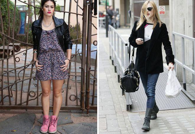 женские высокие ботинки на шнуровке
