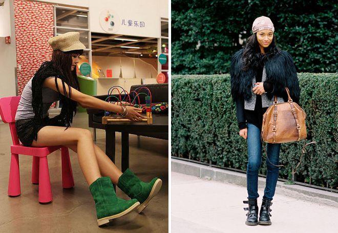женские ботинки с высоким берцем на молнии