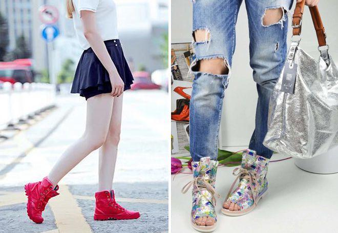 высокие ботинки на лето