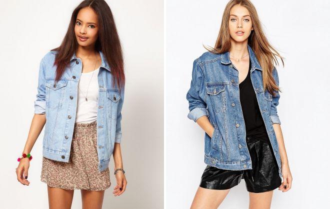 джинсовый пиджак оверсайз