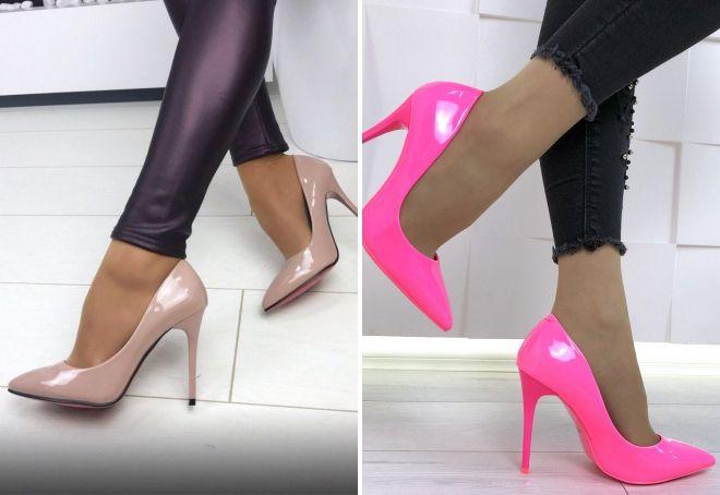 лаковые туфли лодочки