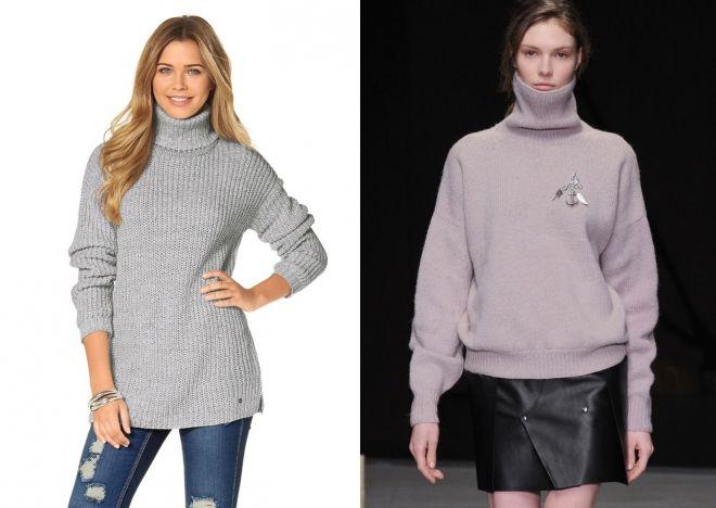 свитер с горлом 2018