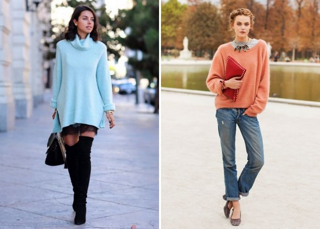 женский вязаный свитер 2018