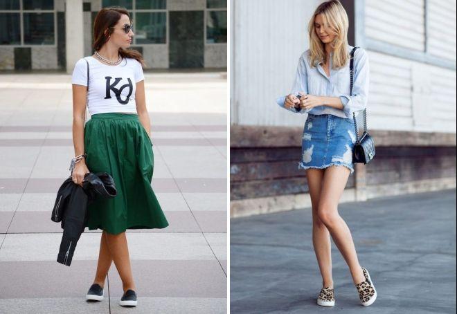 с чем носить женские слипоны летом