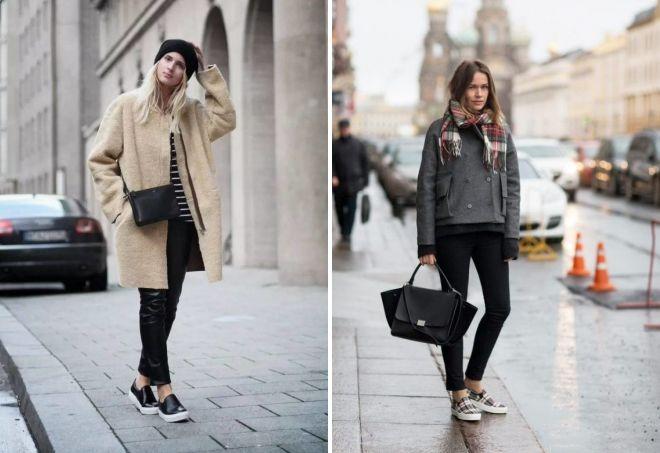 с чем носить слипоны зимой