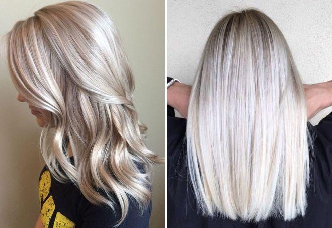 холодный цвет блонд