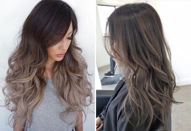 холодный темный цвет волос