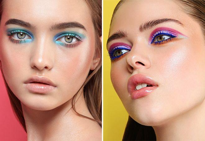 холодные цвета в макияже