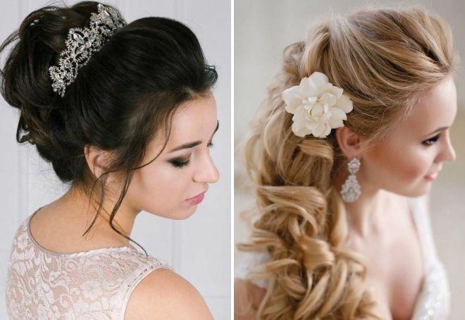 Локоны на свадьбу на длинные волосы