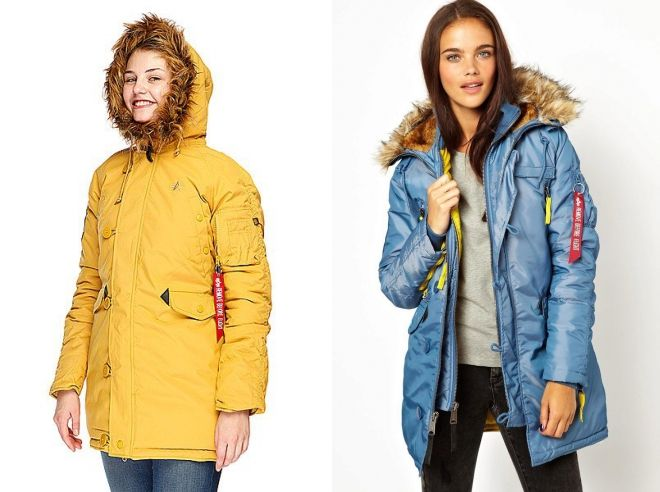 женская куртка парка alpha industries