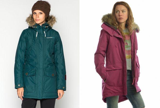 женские теплые куртки парки