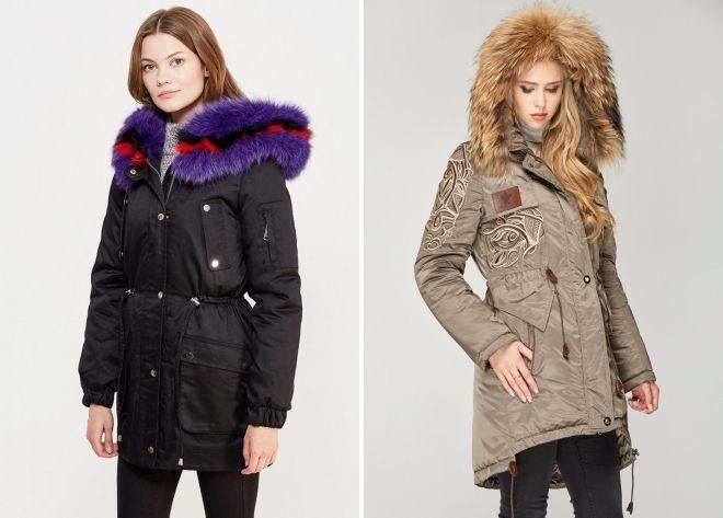 как выглядит женская куртка парка