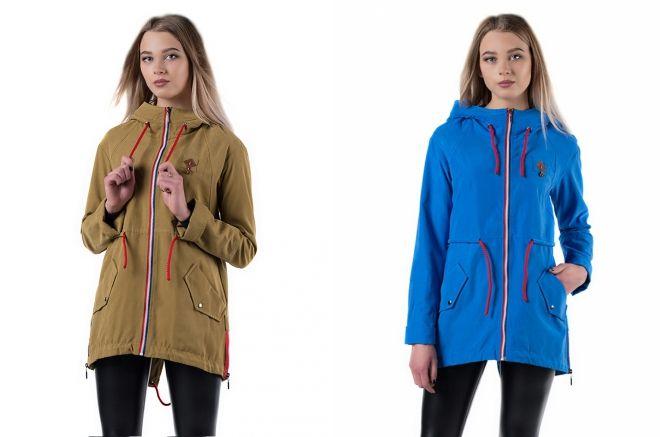 женские демисезонные куртки парки