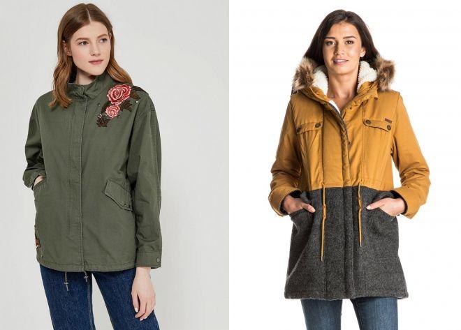 модная женская куртка парка