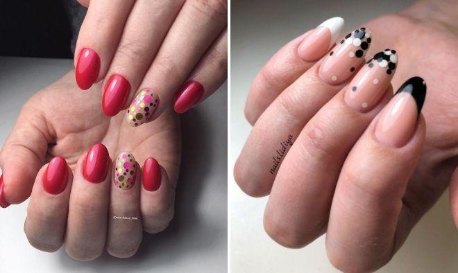 маникюр с камифубиками на круглые ногти