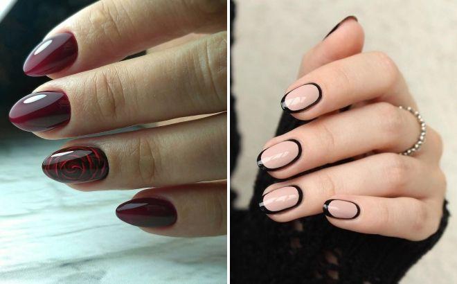 маникюр на круглую форму ногтей