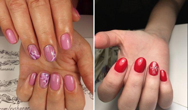 маникюр на короткие круглые ногти