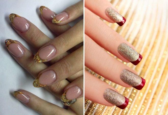 ideje za manikiranje sa zlatnim iskricama