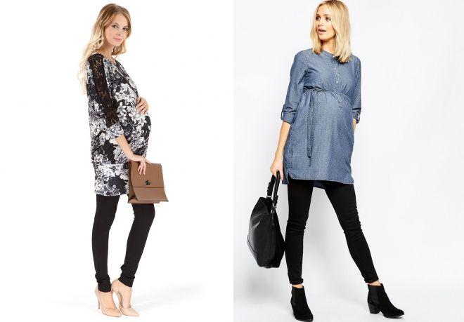 Tunika sukienka dla kobiet w ciąży