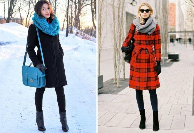 kako nositi šal sa kaputom
