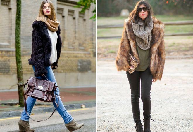 kako nositi šal sa krznenim kaputom