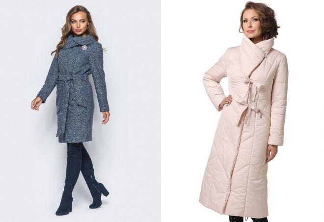 пальто с воротником хомут