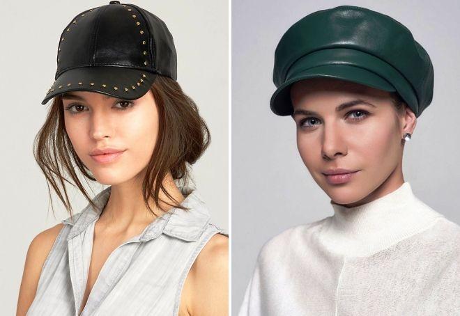 moderne ženske kožne kape