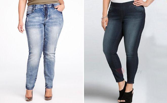 зимние джинсы для полных