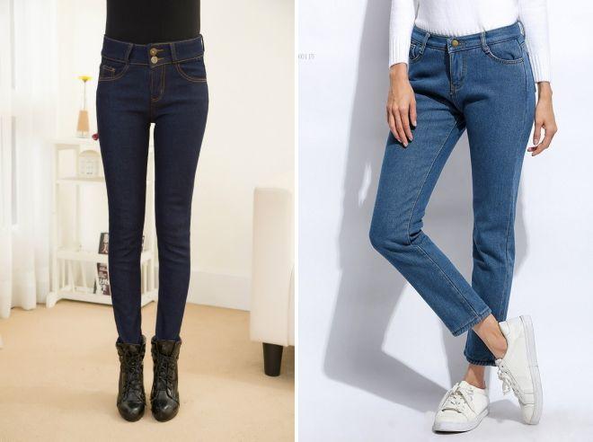 как выбрать зимние джинсы