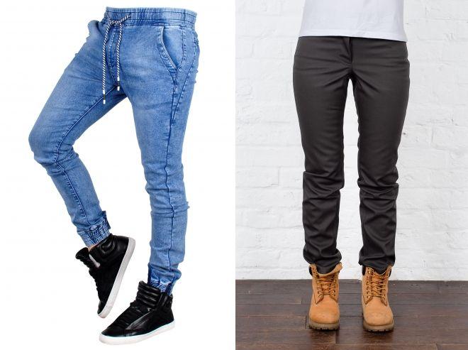зимние джинсы с манжетами
