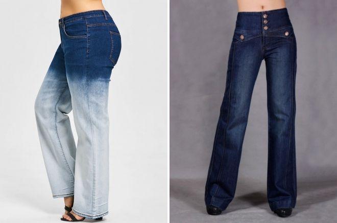 широкие зимние джинсы