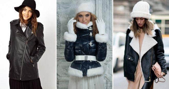 Шапка с зимней кожаной куртке