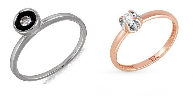 кольца с эмалью и бриллиантами