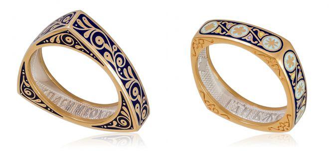 кольца с горячей эмалью